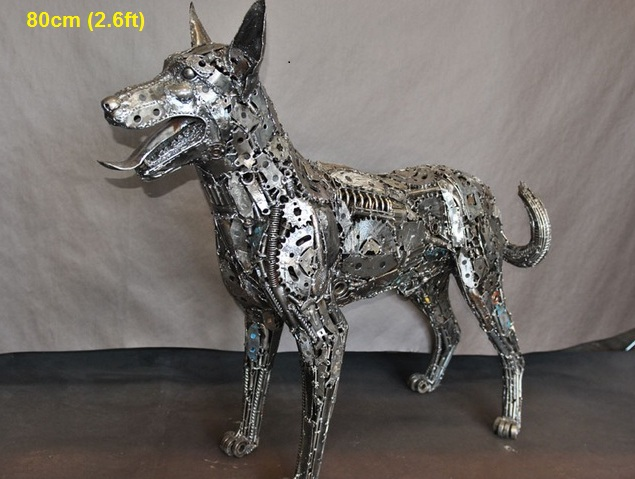 dog-sculpture-scrap-metal-animal-art-life-size
