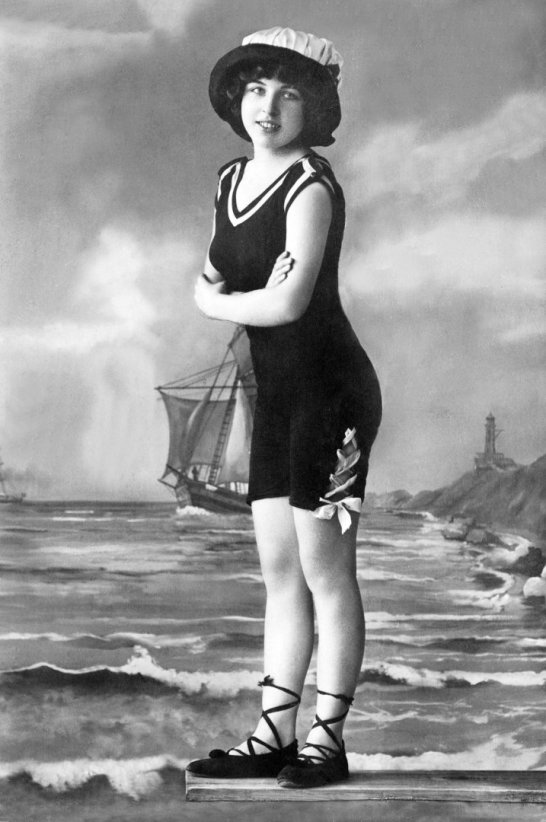 A Girl  in A Bathing Costume