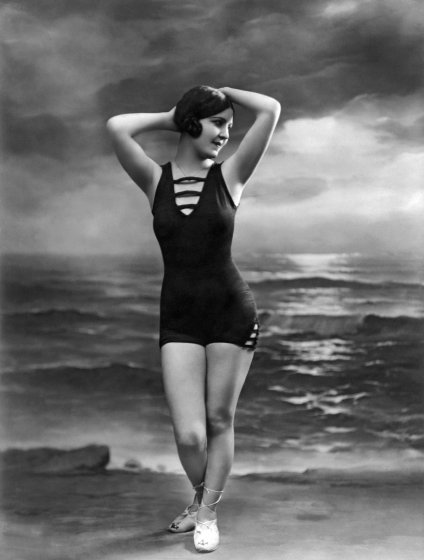 French Woman In A Bathing Suit
