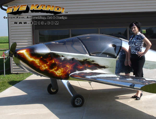 47 2 sonex plane real fire eye kandi custom paint airbrushing