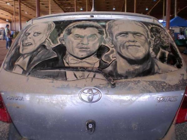 schmutzige-autos-kunst-staub-gemälde-horror
