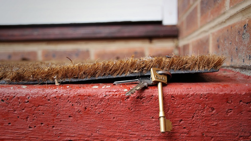 Keys-under-doormat